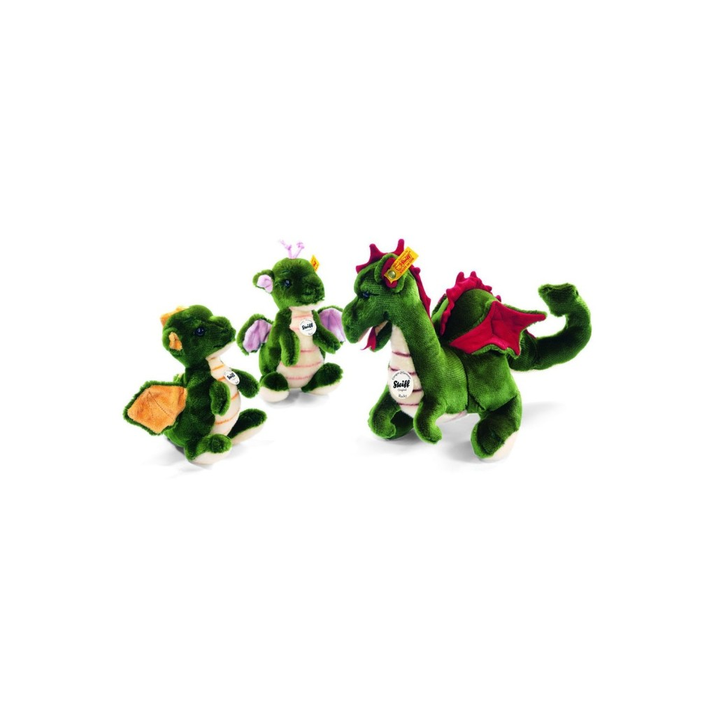 Steiff Dragon Toys - Rocky, Raudi and Racy