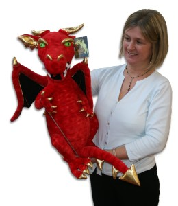 Dragon Puppet - Enchanted Puppets Dragon Hand Puppet in Red